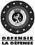 DEFENSIE - LA DEFENSE - Logo color - Text black - Quality print